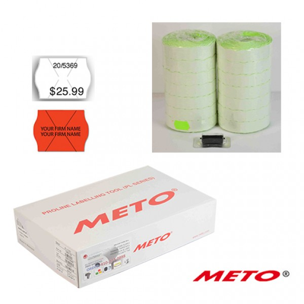 METO LABEL 1322 or 1522  MASTER CASE (168Rolls/Case), Color